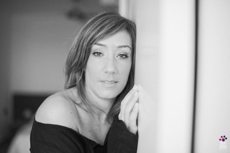 Fotografía intima y sugerente de retrato BOUDOIR