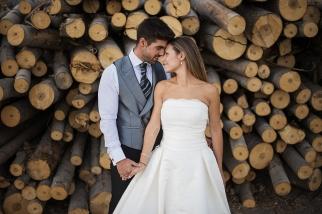 fotografía artistica de boda en el bosque